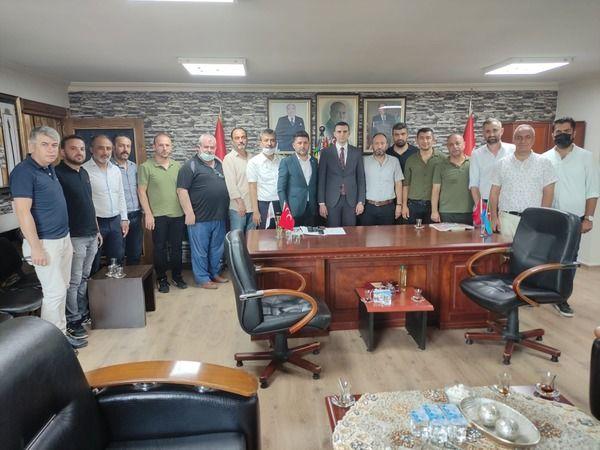 Türk Eğitim-Sen Kocaeli, MHP İl Başkanı Yunus Emre Kurt'u ziyaret etti