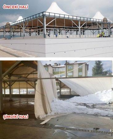 Güney, Ayazma'da 7 aydır çatısı onarılmayan pazara gitti