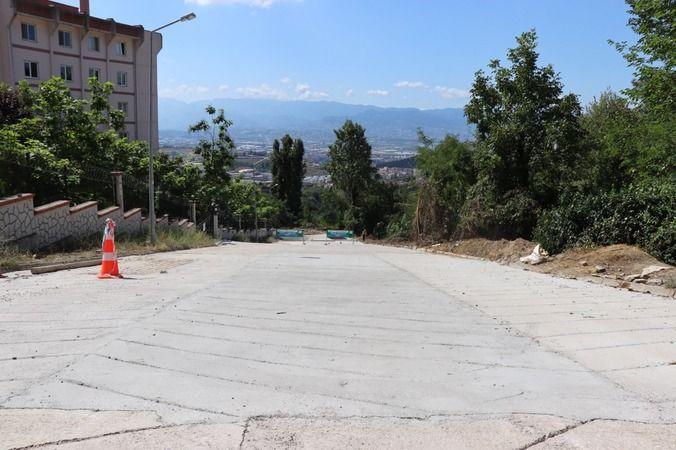 Ayazma Mahallesi'ne yeni beton yol