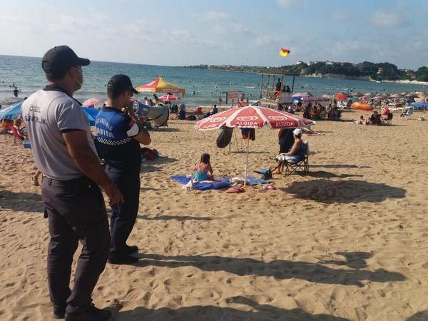 Kocaeli Zabıtası plajlarda görev başında