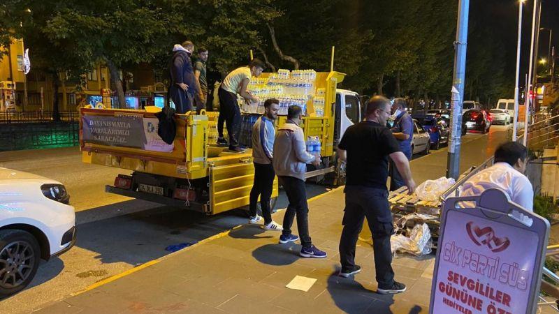 İzmit Belediyesinin yardım aracı Kastamonu'ya ulaştı