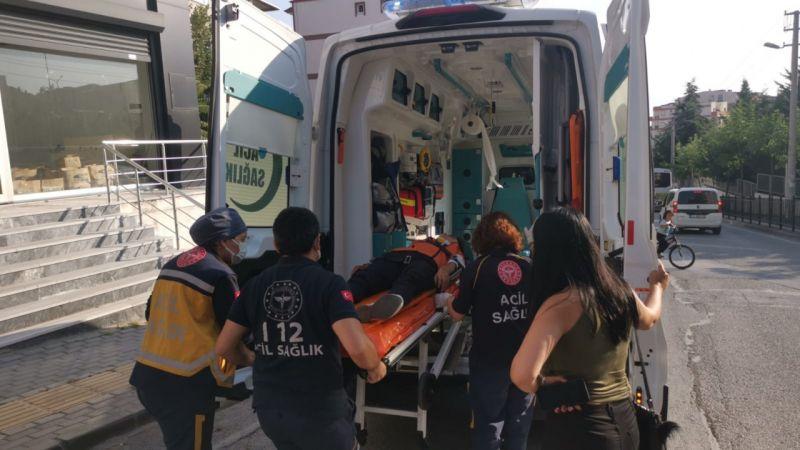 Kocaeli'de panelvanla çarpışan motosikletin sürücüsü yaralandı