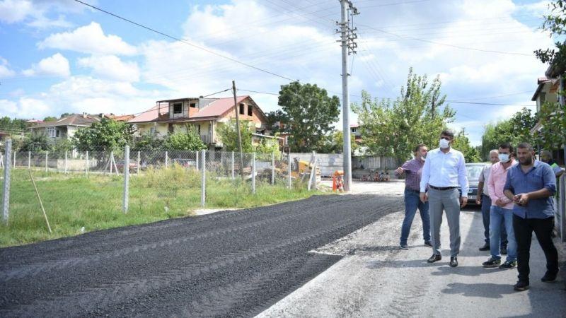 Kartepe Eşme'de köy yollarına büyük yatırım