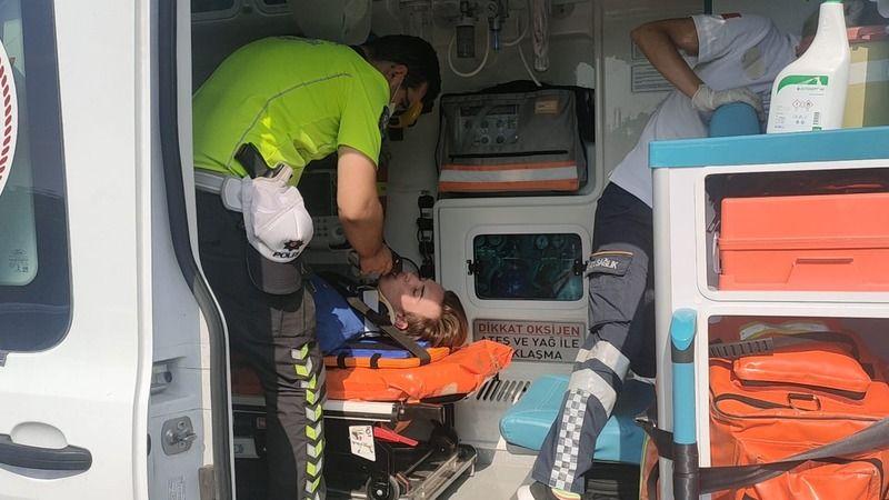 Gebze'de devrilen motosikletin sürücüsü yaralandı