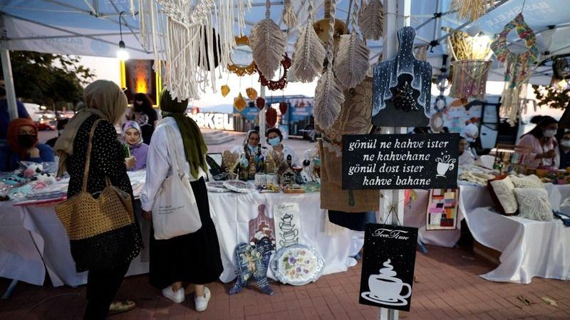 Kadınların el emeği ürünleri sergiden satışa sunuldu