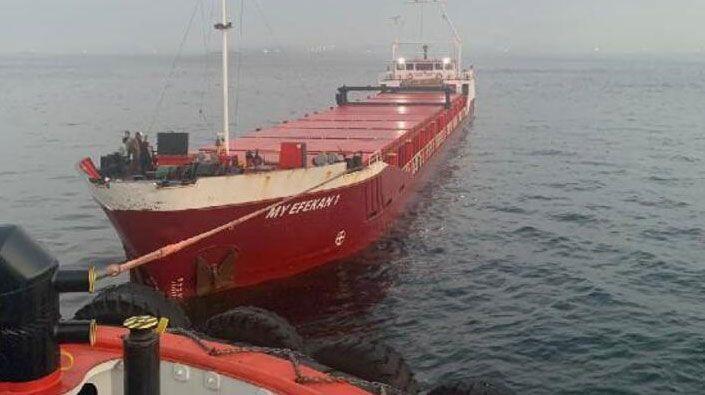 Kocaeli'den yola çıkan gemi Boğaz'da arızalandı!