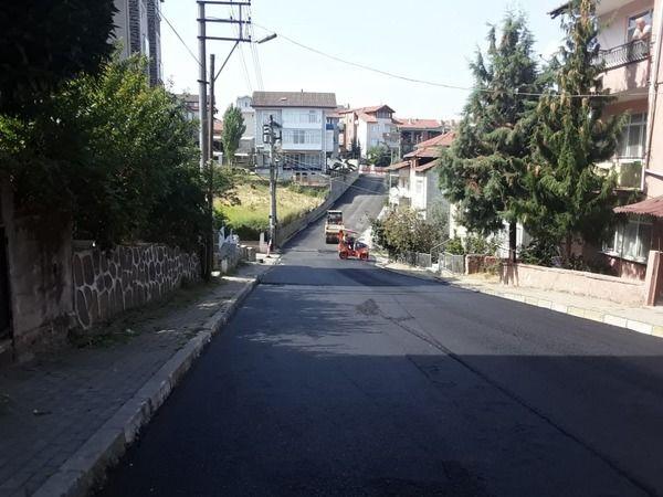 Süleyman Ateş Caddesi'nde asfalt serim çalışması tamamlandı