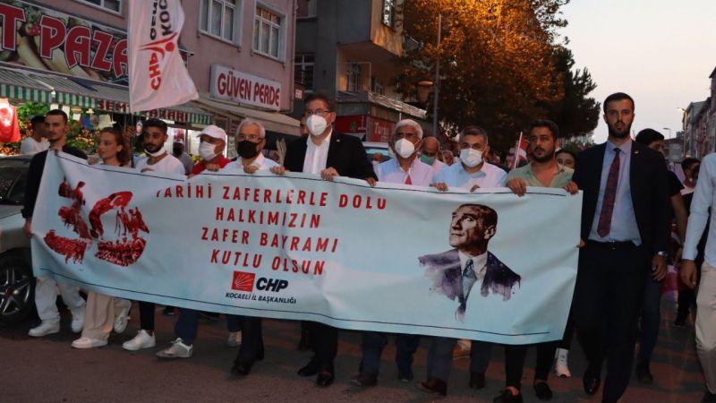 CHP, Zafer Bayramı coşkusunu Gebze'ye taşıdı