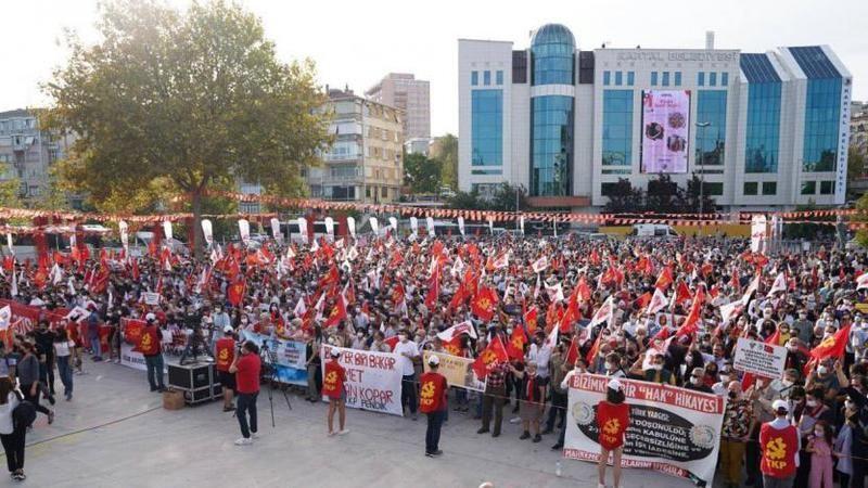 TKP'nin mitinginde binlerce kişi bir araya geldi: Şimdi sosyalizm zamanı!
