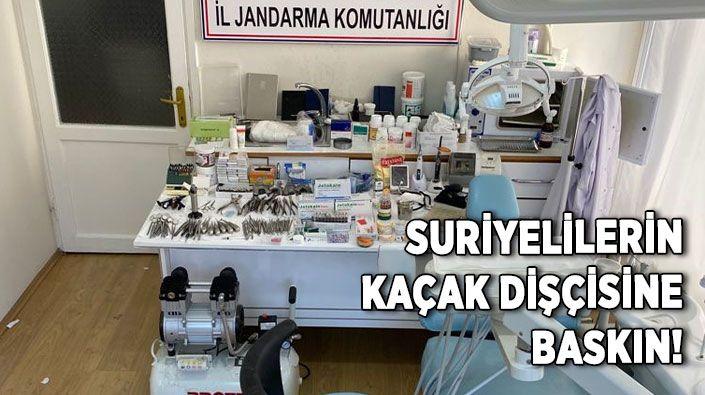 Suriyelilerin kaçak dişçisine baskın!