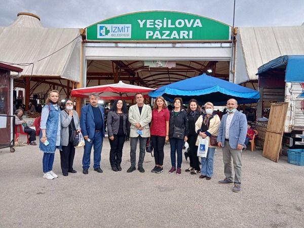 İYİ Parti'den Yeşilova semt pazarına ziyaret