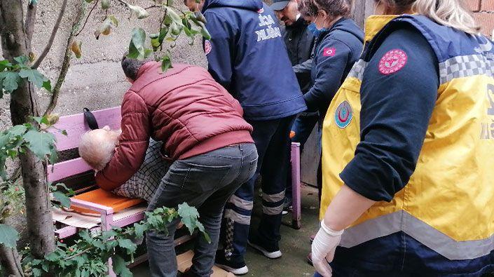 Budamak için çıktığı ağaçtan düşerek yaralandı