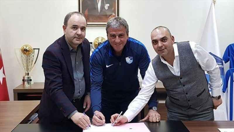 Erzurumspor'da teknik direktör Hamzaoğlu ile sözleşme imzalandı