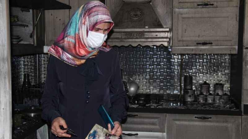 Evini yakan kocasından ölüm tehdidi alan kadın korumaya alındı