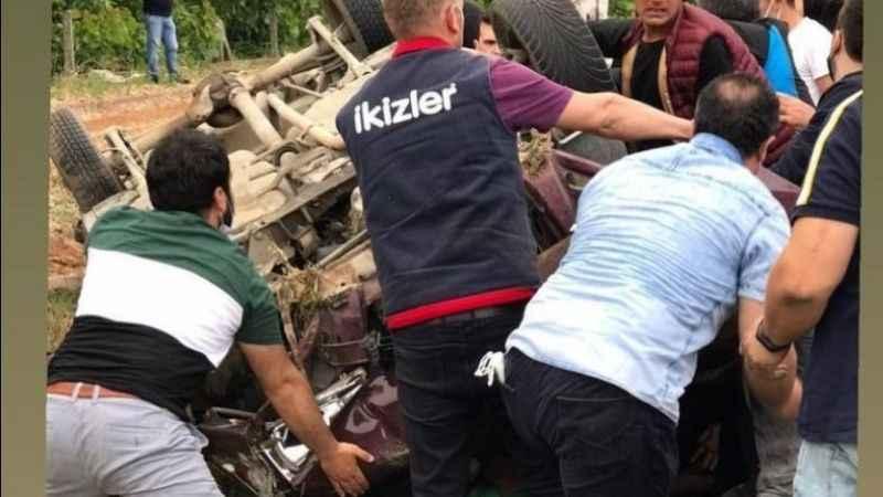 """""""GeliyoruzKocaeli"""" yazan Sakaryalı taraftar kazada hayatını kaybetti"""