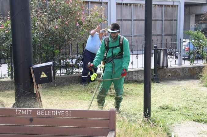 İzmit Belediyesi, Yenişehir'de parkları pırıl pırıl yaptı