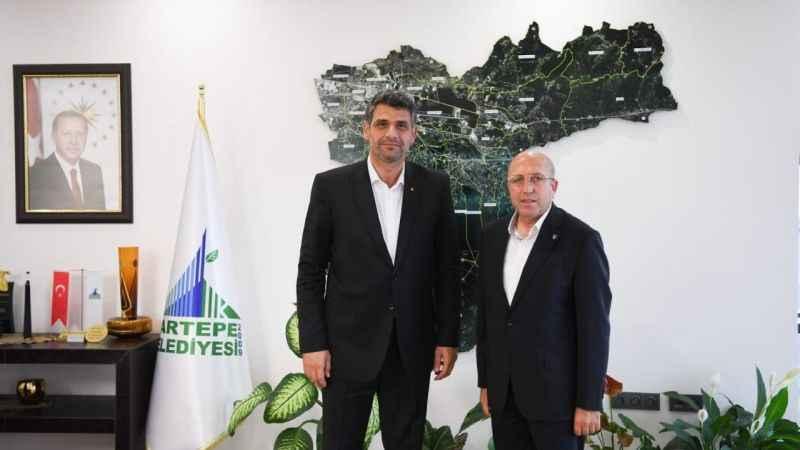 Engin Koyun'dan Mustafa Kocaman'a teşekkür ziyareti