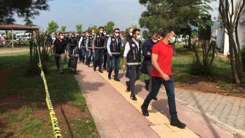 Kocaeli'de silah kaçakçılığı operasyonunda 9 kişi adliyede