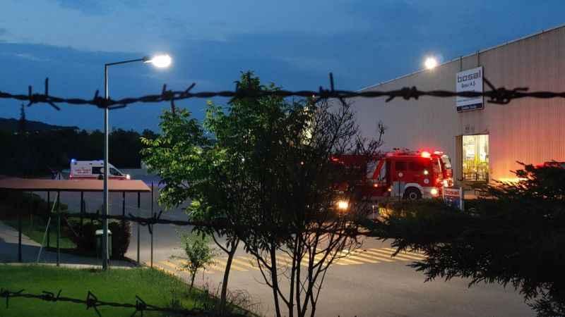 Metal işleme fabrikasında yangın çıktı
