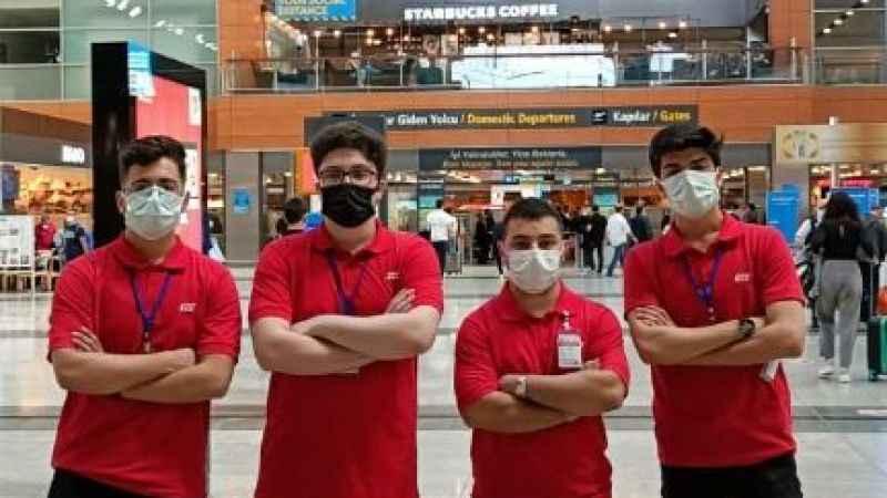 Özel Göktuğ Sivil Havacılık Koleji 12.sınıf öğrencileri TGS'de iş hayatına atıldı
