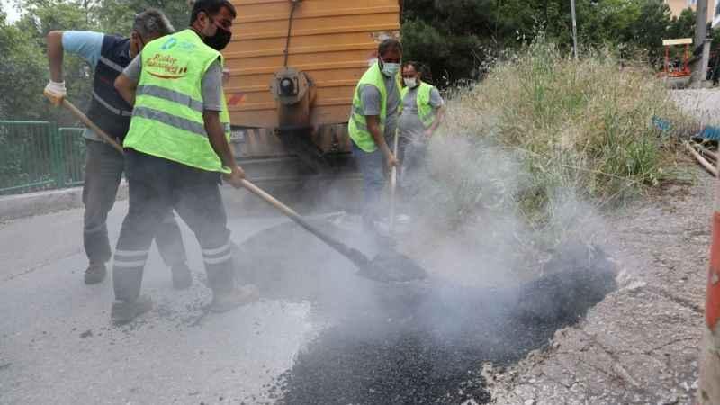 Şirintepe'nin asfaltları onarılıyor