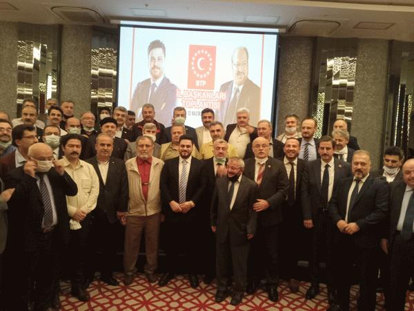 BTP Kocaeli, Ankara'da  il başkanları toplantısına katıldı