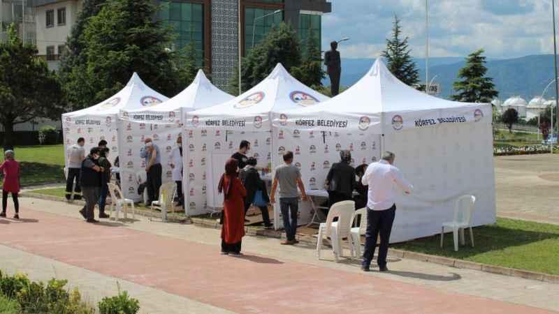 Aşılamada hızlı yol almak için aşı çadırı kuruldu
