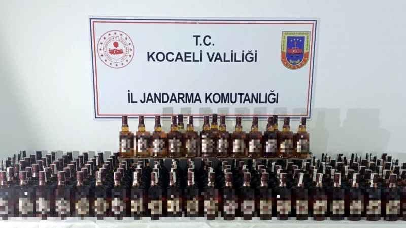 190 şişe sahte içki ele geçirildi