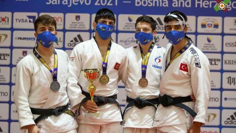 Judocular Avrupa'dan bol madalyayla döndü