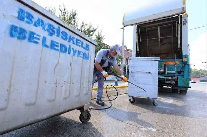 Başiskele'de Çevre Temizliği Tüm Hızıyla Sürüyor