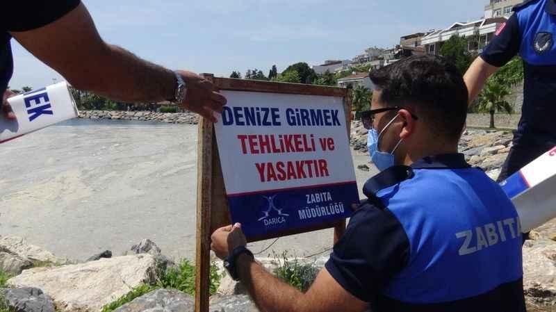 Darıca'da denize girmek yasaklandı