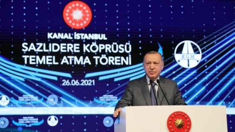 Erdoğan'ın katılımıyla Kanal İstanbul'un temeli atıldı