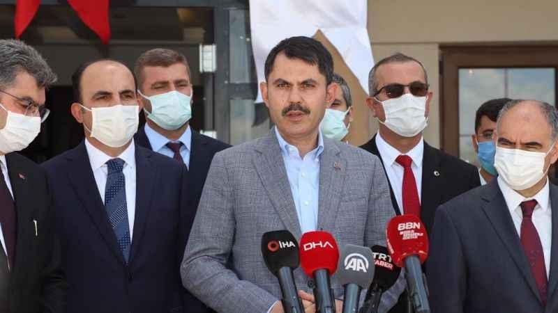 """Bakan Kurum: """"Amacımız, Marmara'yı koruyacak adımları kararlı bir şekilde atmak"""""""