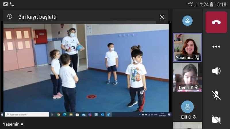 ODTÜ GV Özel Kocaeli ilkokulu anasınıfı öğrencilerinden çevrimiçi yılsonu gösterisi