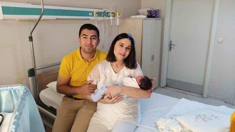 Gazeteci Çiğdem Alp'in ilk bebek sevinci