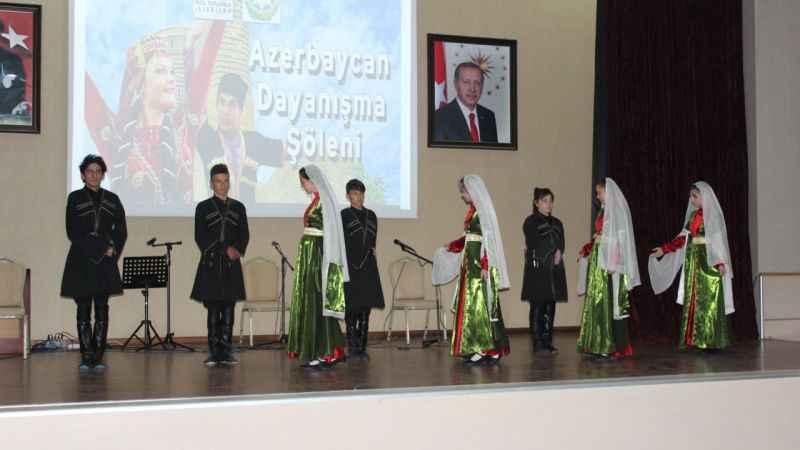 Azerbaycan Dayanışma Şöleni gerçekleşti