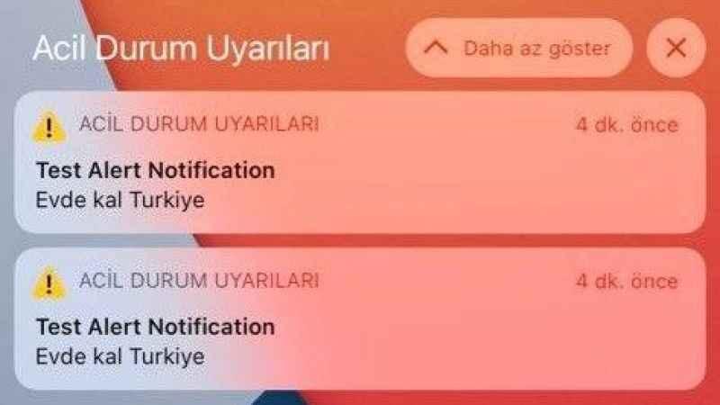 """""""Evde kal Türkiye"""" alarmı korkuttu"""