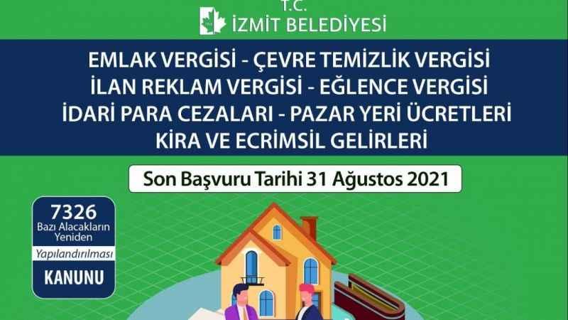 Vergi yapılandırması sürüyor:Son gün 31 Ağustos