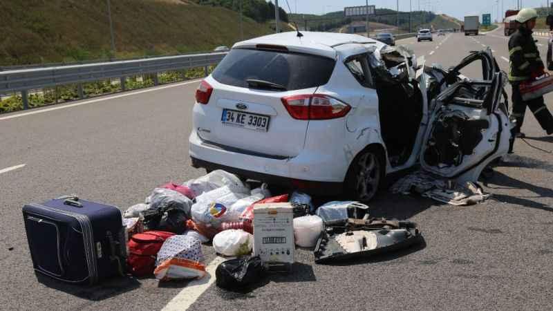 Kuzey Marmara Otoyolu'nda feci kaza: 1'i ağır 5 yaralı