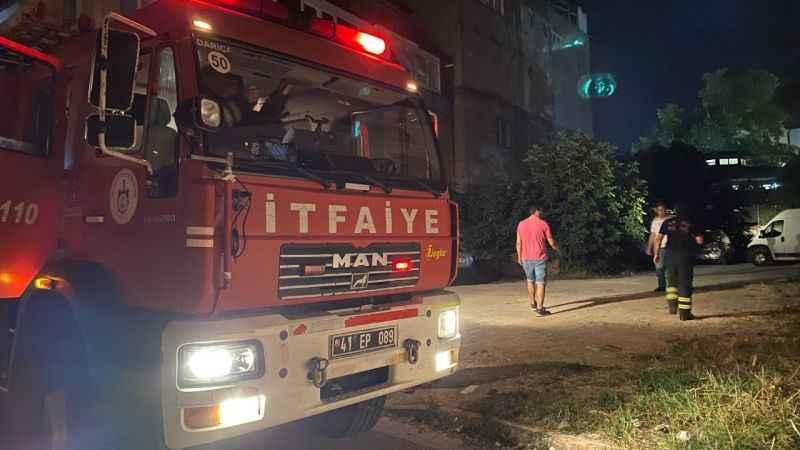 Tekstil atölyesinde yangın paniği
