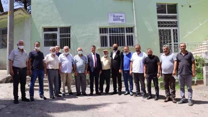 İzmit Belediyesinden AkşemsettinCamii'ne malzeme desteği