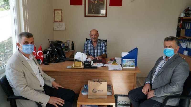 Sezer'den muhtarlık binaları yenilenen muhtarlara ziyaret