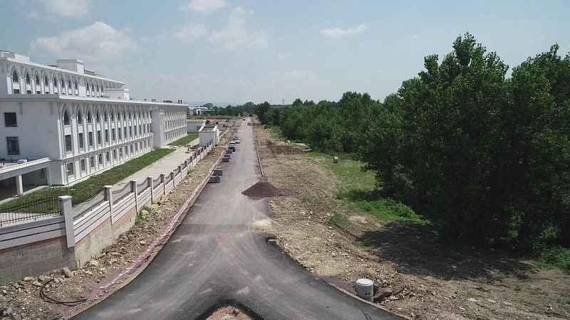 Yeni Emniyet Müdürlüğü yolu ve otoparkı asfaltlandı