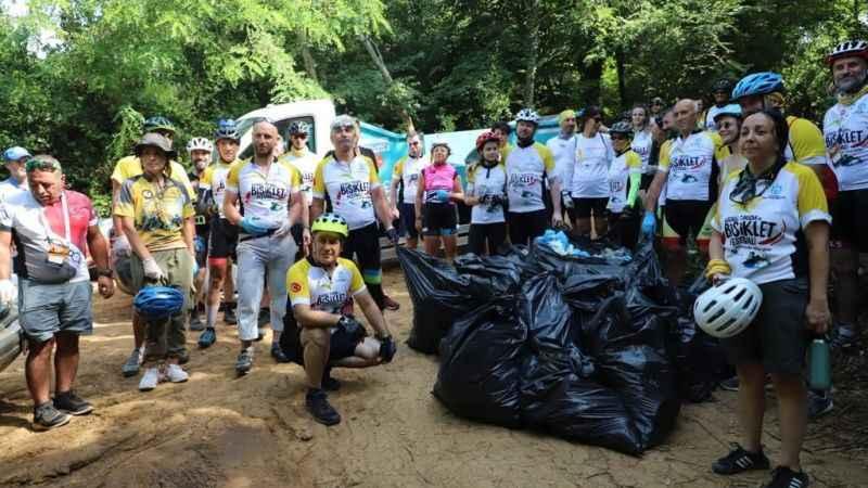 Turizm ve Bisiklet Festivali'nde çevre bilinci aşılandı: Artık yüreğimiz yanmasın !
