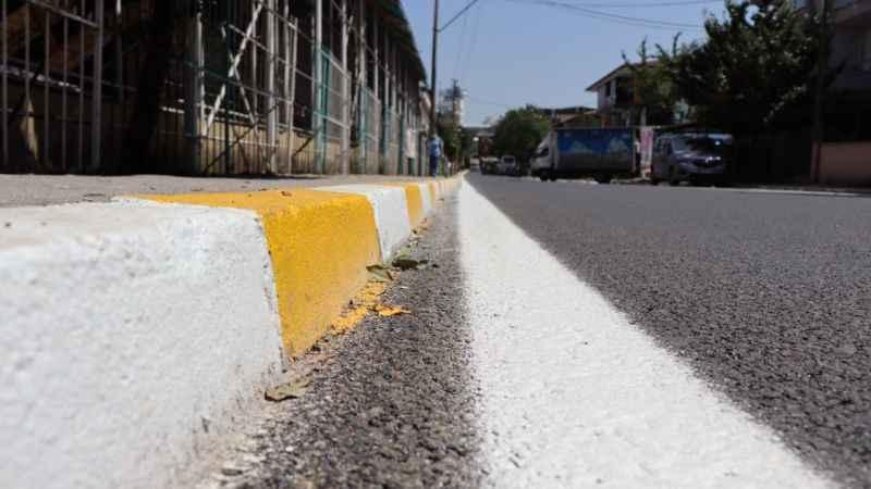 Yenişehir hastane yolu kısa sürede pırıl pırıl oldu