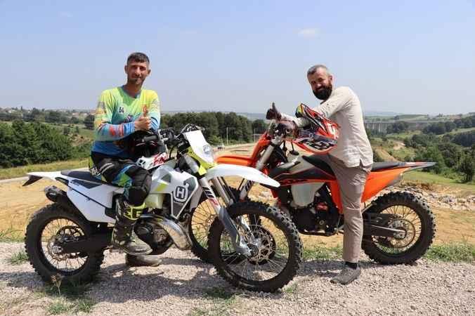 Akmeşe Motocross Parkuru'nda antrenman turları başladı