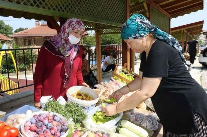 Karaabdülbaki Üretici Pazarı'nda satışlar başladı