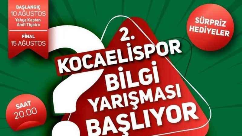 2. Kocaelispor Bilgi Yarışması yarın başlıyor