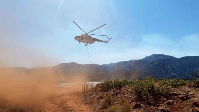 İzmit Belediyesinden helikopterhavuzuna su desteği