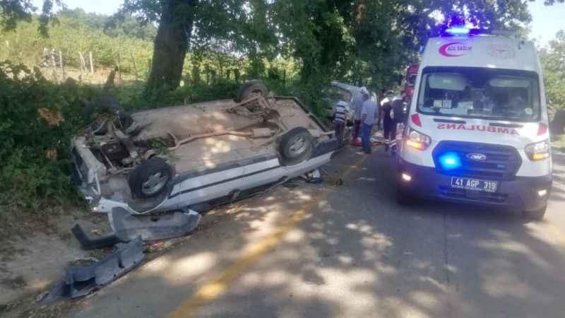 Kandıra'da otomobil takla attı: 1 yaralı